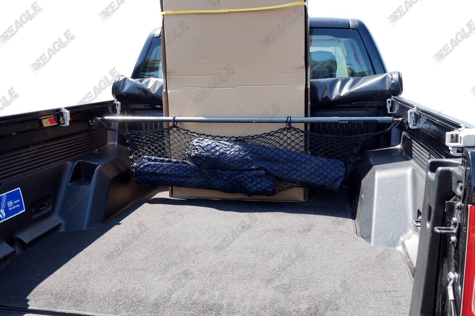 vw amarok pickup truck cargo bar / bed divider with net - bed