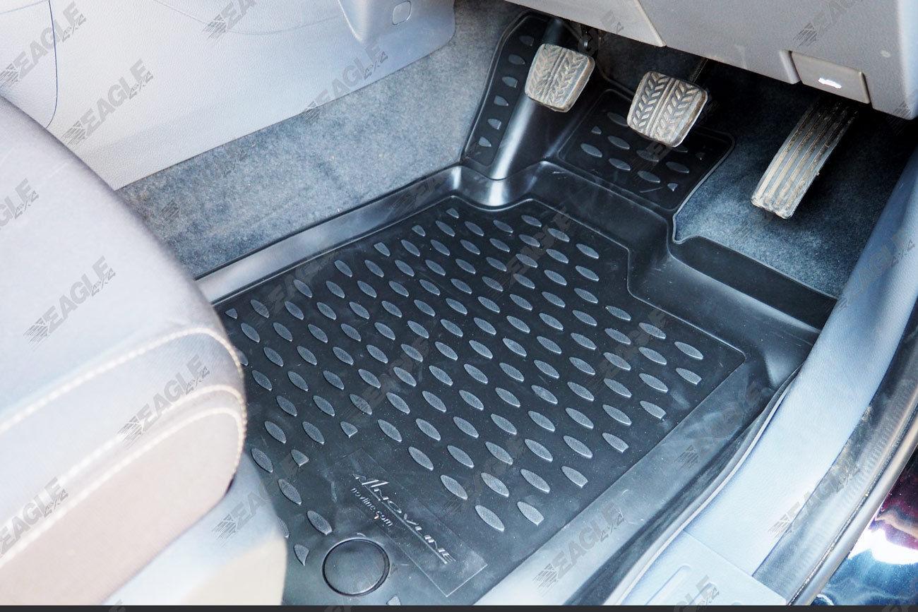 Ford Ranger T6 Tpe Rubber Floor Mats Deep Tray 3d Mud Mats
