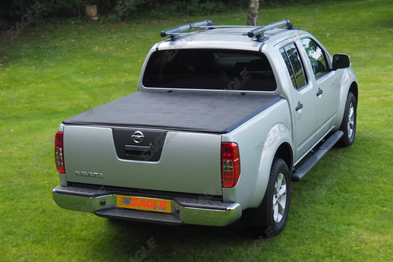 nissan navara d40 double cab long bed soft roll up tonneau cover premium quality ebay. Black Bedroom Furniture Sets. Home Design Ideas