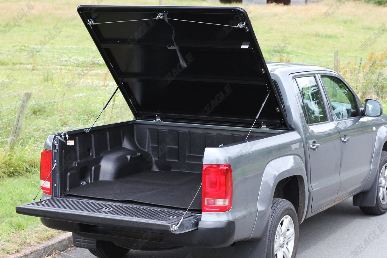 vw amarok eagle1 aluminium chequered plate tonneau cover strong hard top lid ebay. Black Bedroom Furniture Sets. Home Design Ideas