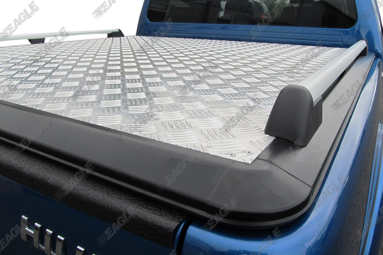 ford ranger t6 eagle1 aluminium chequered plate tonneau cover strong hard lid ebay. Black Bedroom Furniture Sets. Home Design Ideas