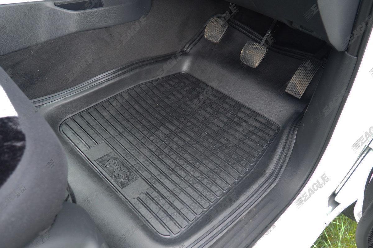 Rubber mats car - Nissan Navara Np300 Deep Tray Rubber Floor Mats Car Mats Rubber Mud Mats 2016