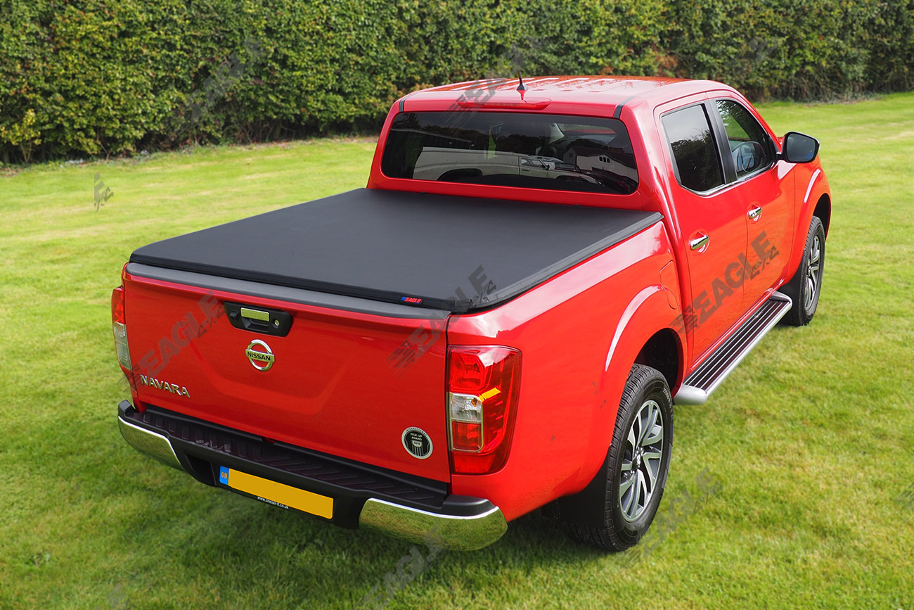 nissan navara d23 np300 d c soft folding tonneau cover. Black Bedroom Furniture Sets. Home Design Ideas
