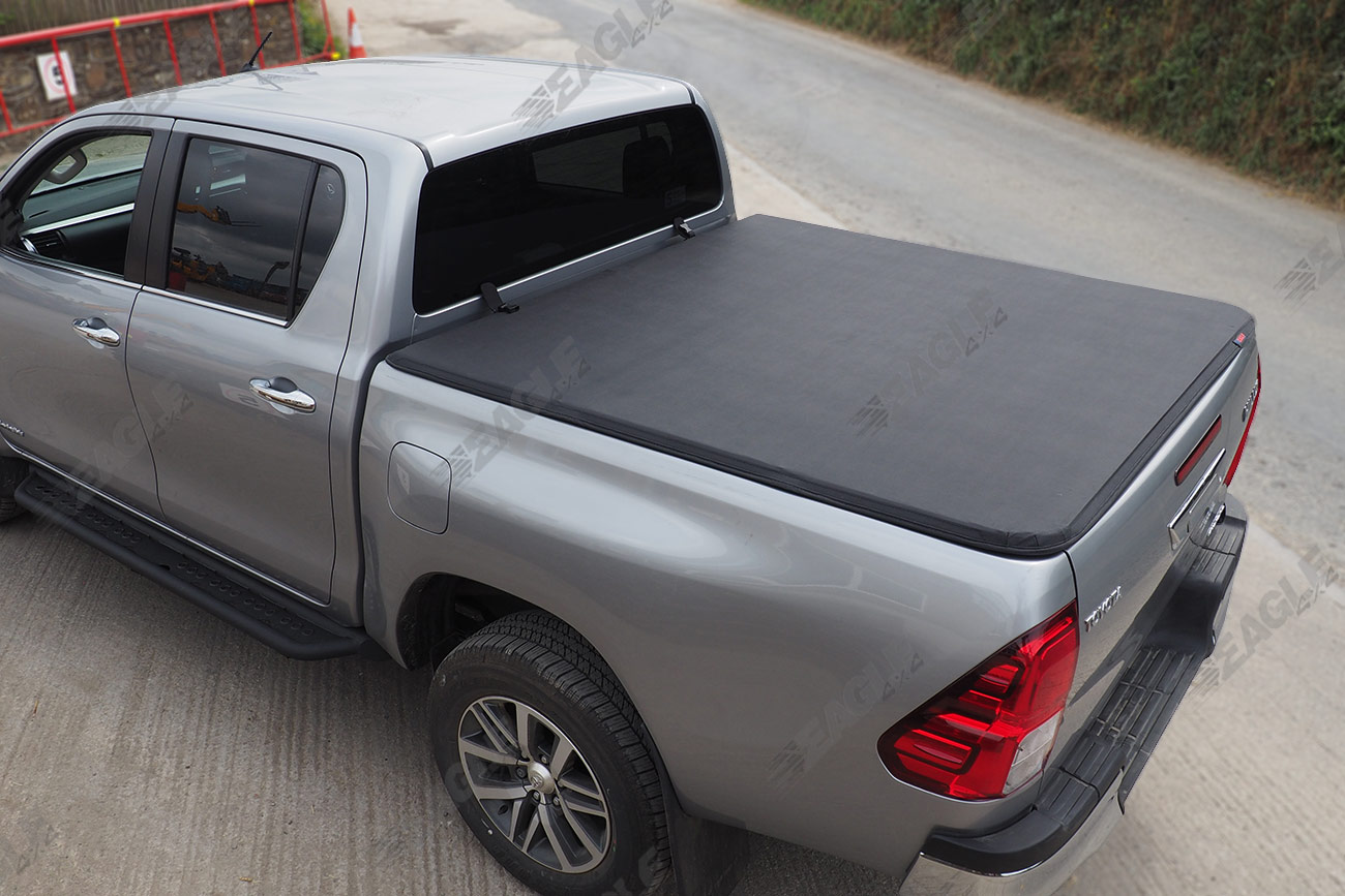 2016 toyota hilux soft roll up tonneau cover bed cover load cover sheet ebay. Black Bedroom Furniture Sets. Home Design Ideas