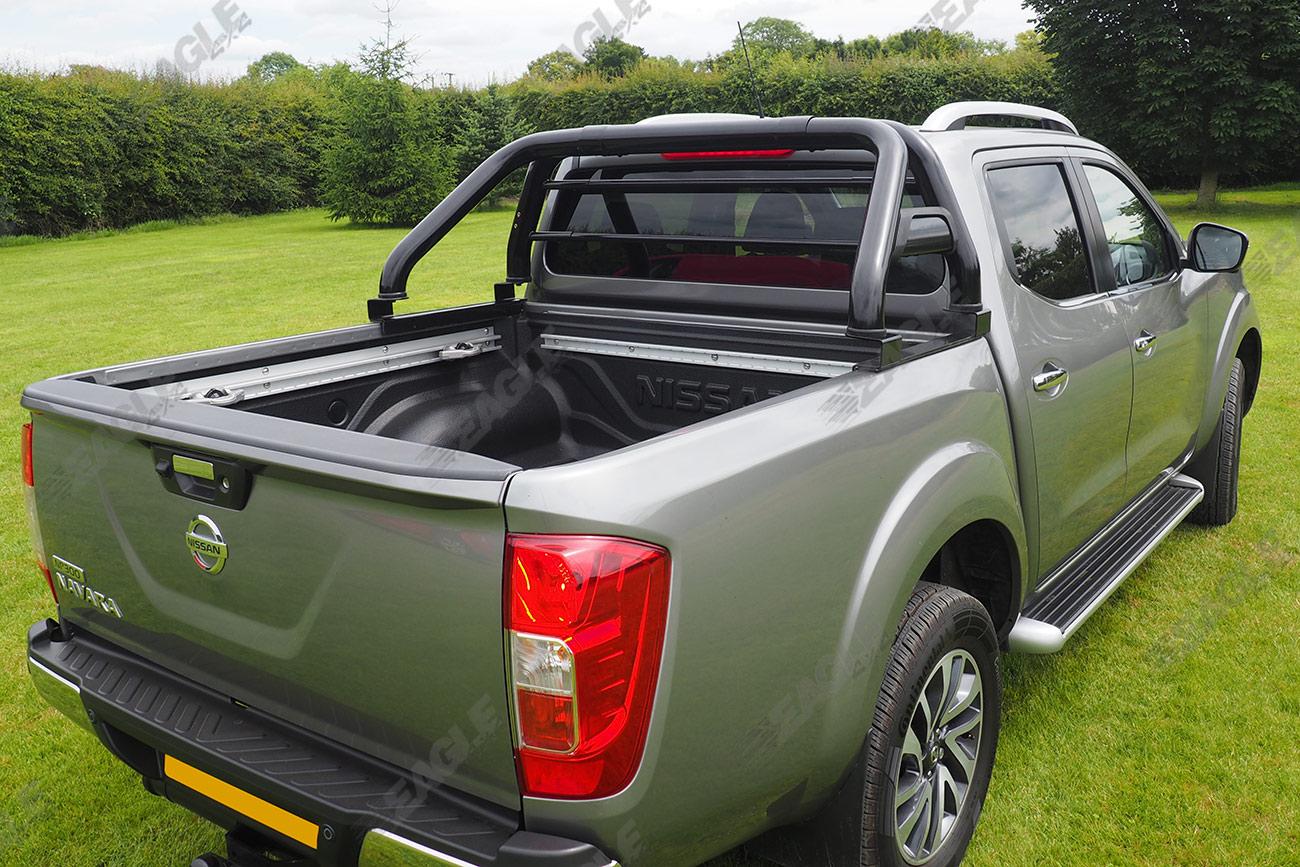 Tonneau Covers Hard Soft Roll Up Folding Truck Bed Covers >> Nissan Navara D40 Hawk Roll Bar BLACK - Fits with Tonneau ...