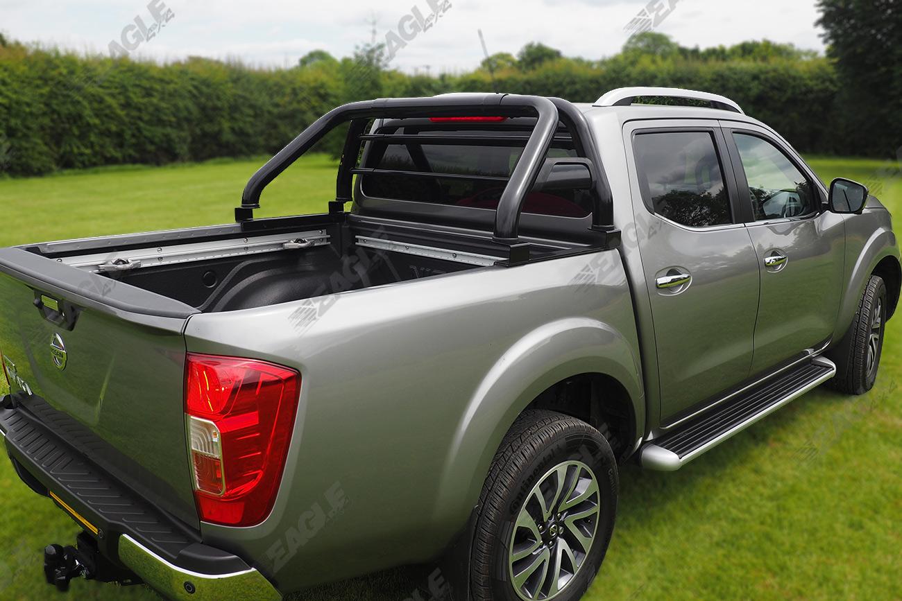 Hard Roll Up Tonneau Cover >> Nissan Navara NP300 Hawk Roll Bar BLACK - Fits with Tonneau Cover
