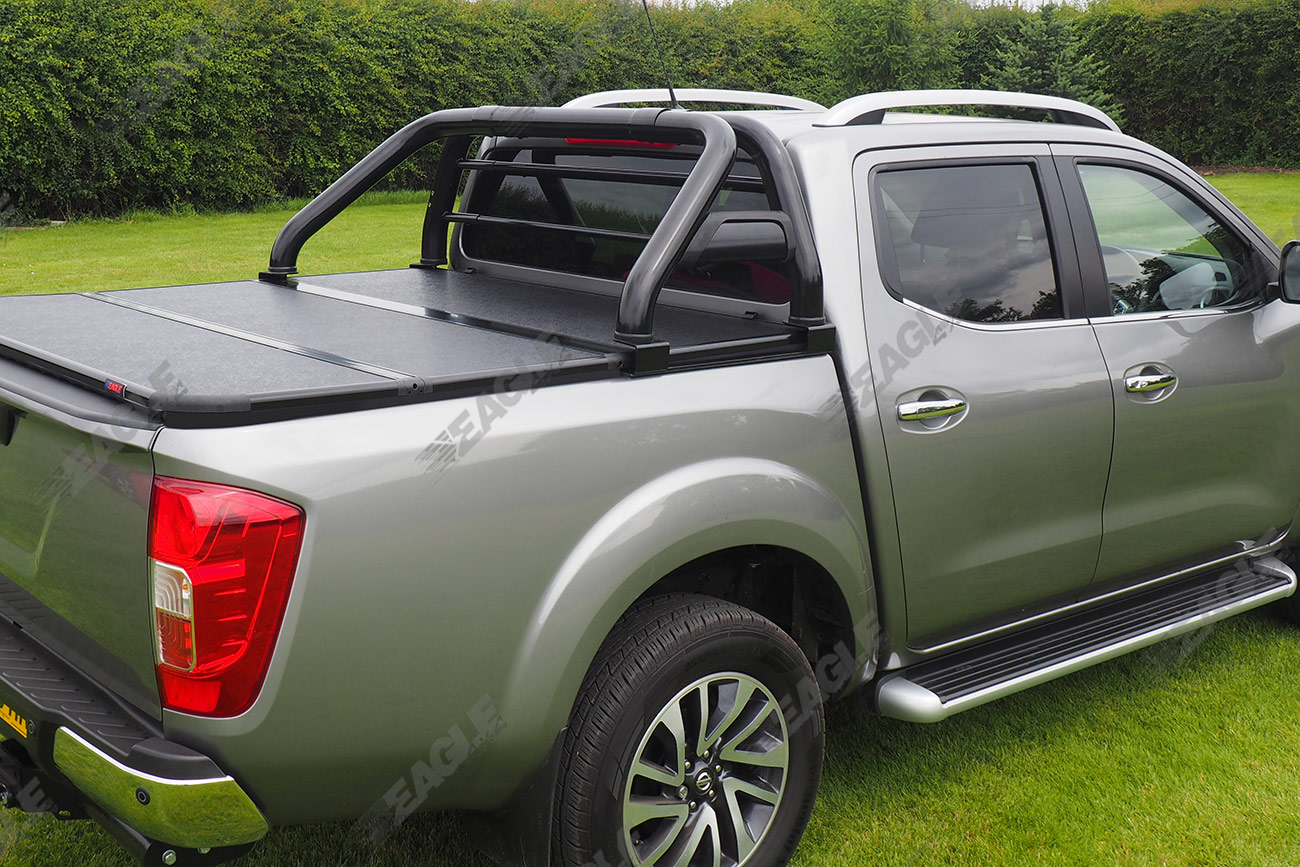 Navara Modification >> Nissan Navara NP300 Hawk Roll Bar BLACK - Fits with Tonneau Cover | eBay