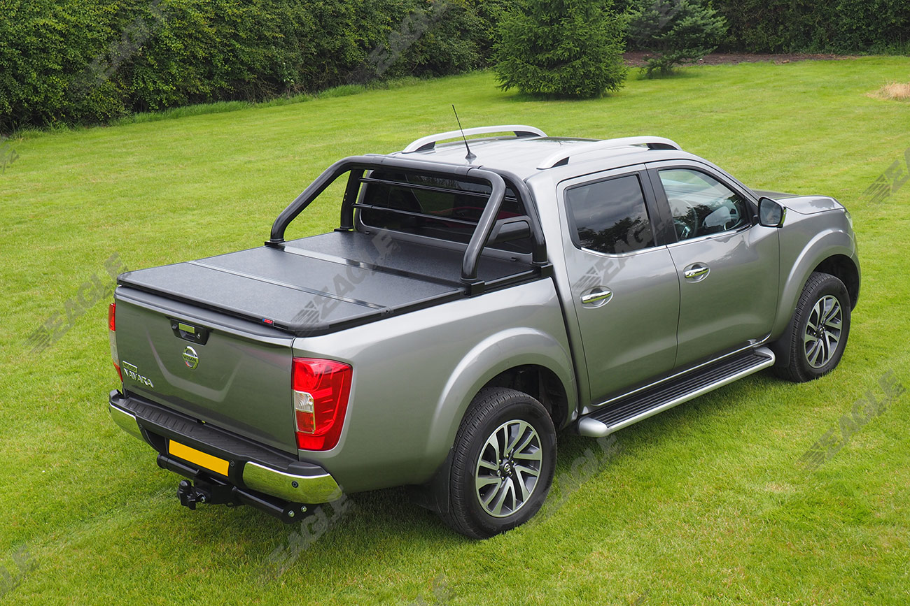 hard folding tonneau cover nissan navara np300 d23 d c 16 ebay. Black Bedroom Furniture Sets. Home Design Ideas