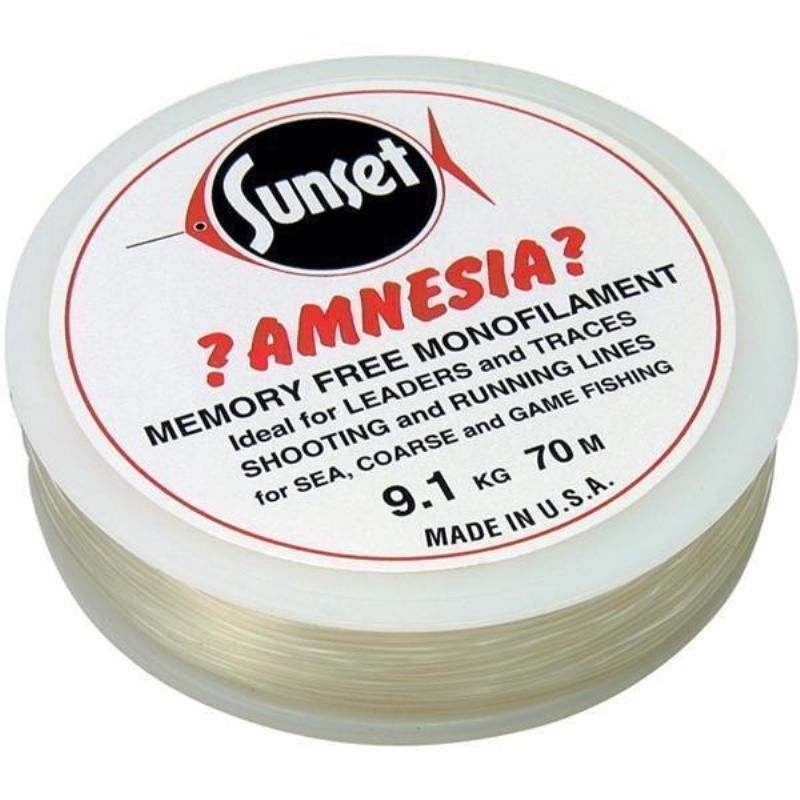Amnesia trace and leader fishing line clear 6lb 30lb no for Fishing line leader