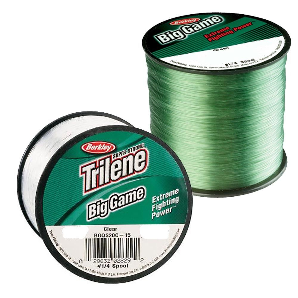 Berkley trilene big game mono fishing line 4oz spool clear for Fishing line for sale