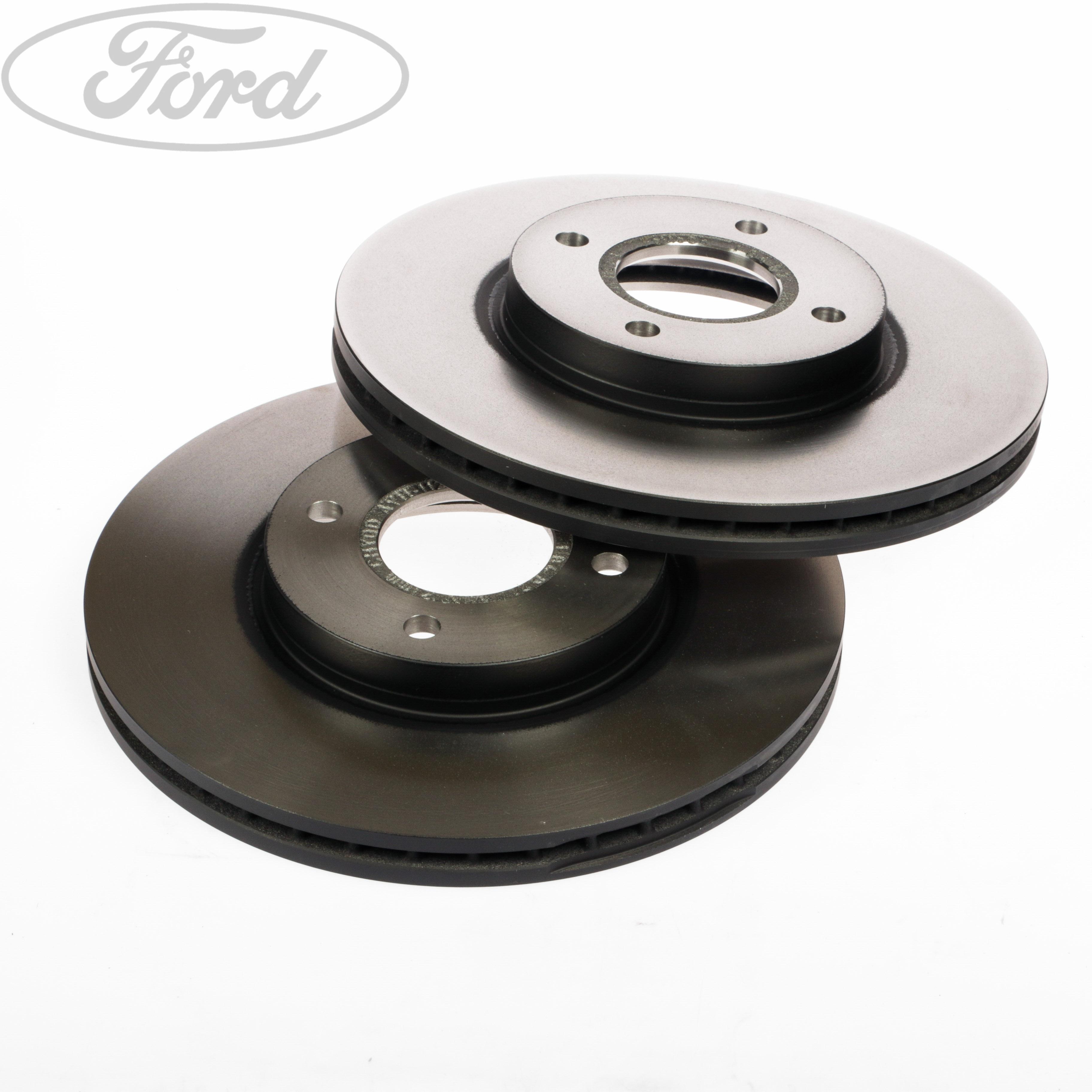 genuine ford fiesta mk7 st front vented brake discs 278mm 4 stud pair 1751584. Black Bedroom Furniture Sets. Home Design Ideas