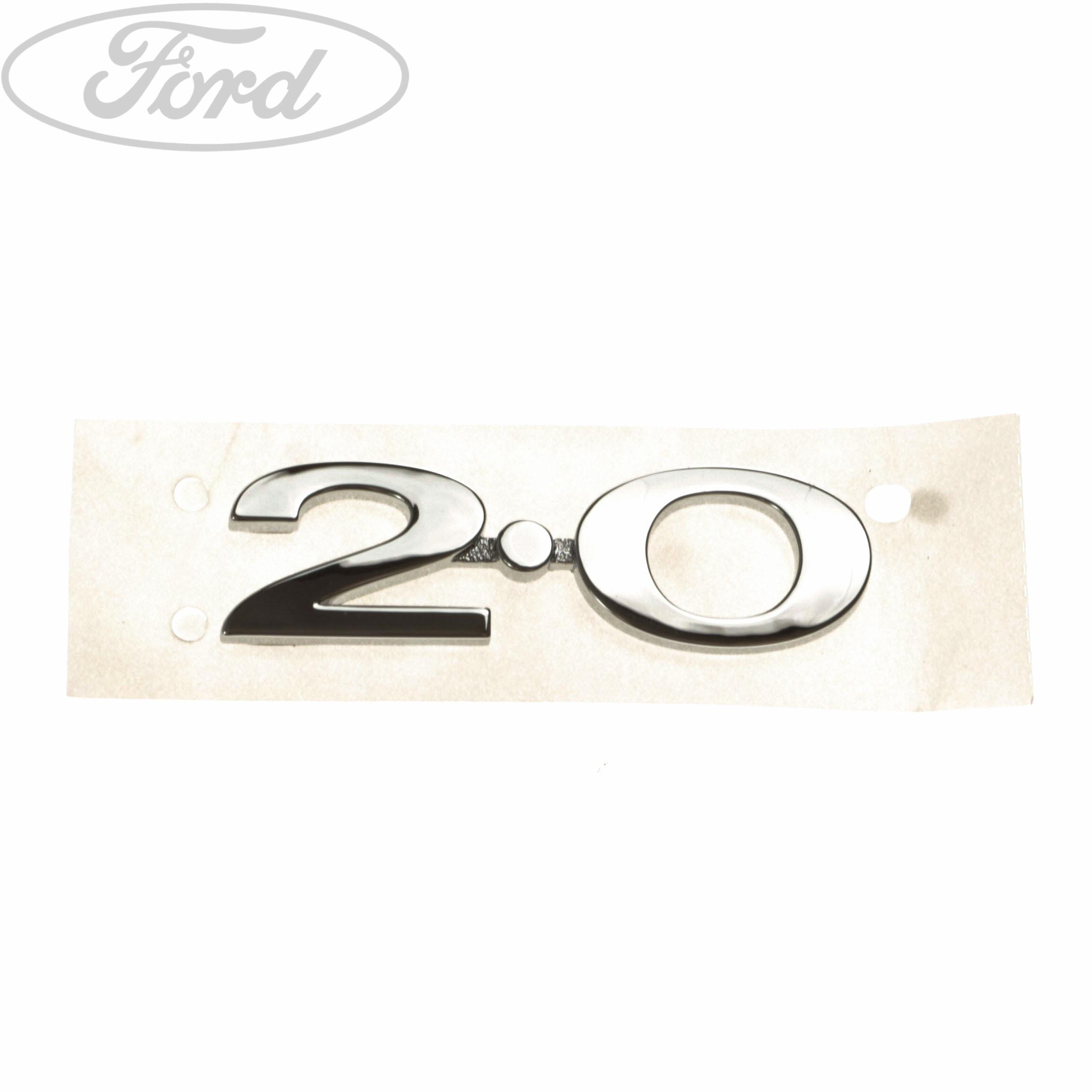 Genuine ford mondeo mk4 c max focus ii s max 2 0 name plate badge emblem 1686392