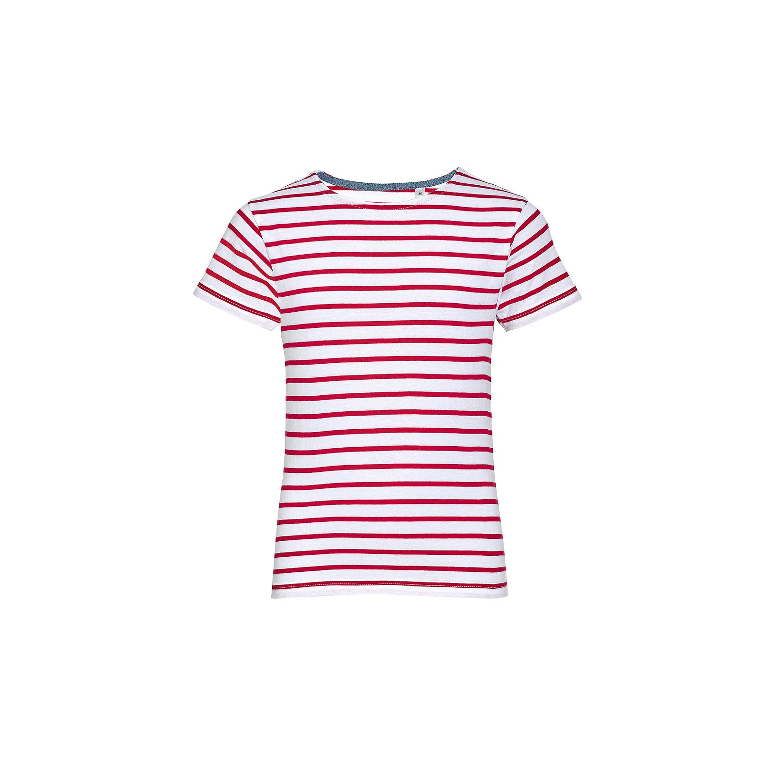 SOL/'S Kids Miles Stripe Short Sleeve T-Shirt Taped Neck Boys Girls Casual Summer