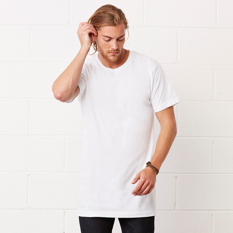 3 Pack Bella Canvas Extra Long T Shirt Longline Length
