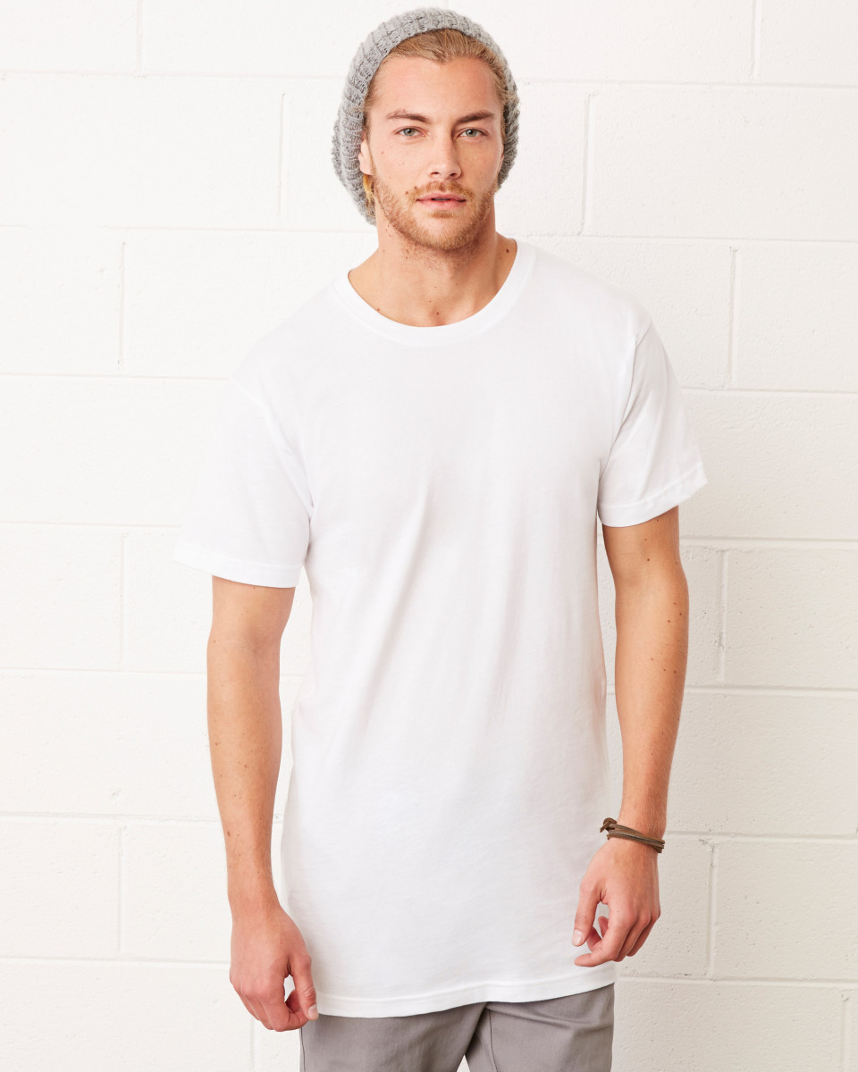 Bella canvas men 39 s extra long t shirt urban tall body for Mens tall t shirts