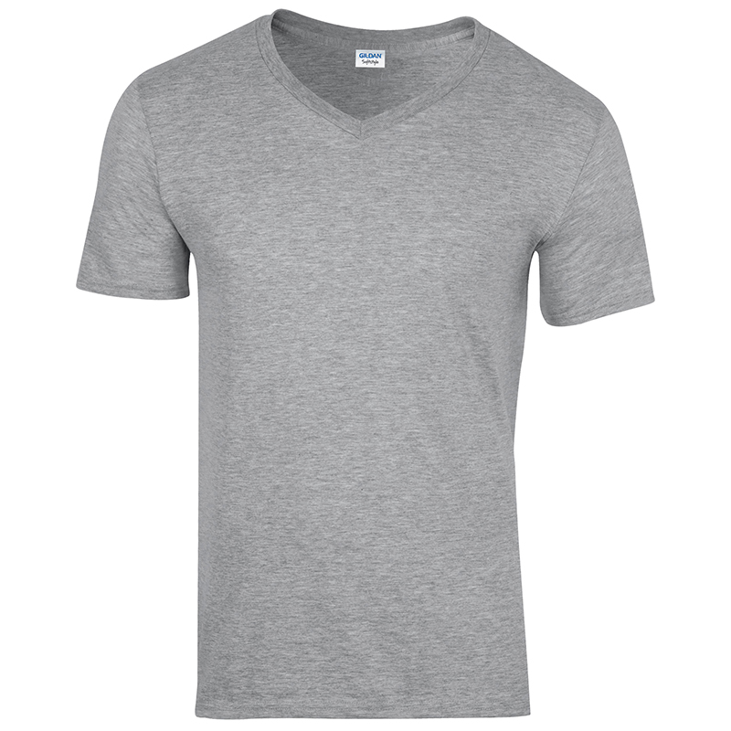 Gildan gd010 mens plain v neck t shirt euro style fit for Gildan v neck t shirts for men