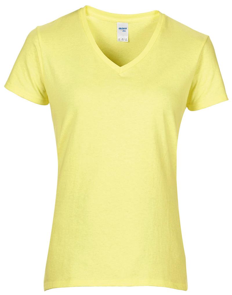 Gildan Gd015 Womens Premium Cotton V Neck Semi Fitted