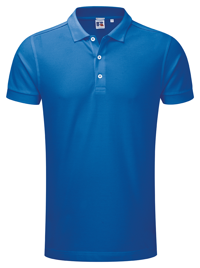 Russell stretch polo j566m fabulous cut slim fit mens for Stretch polo shirt mens