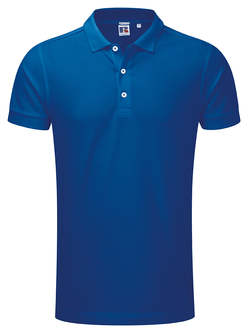 Russell Stretch Polo J566m Fabulous Cut Slim Fit Mens