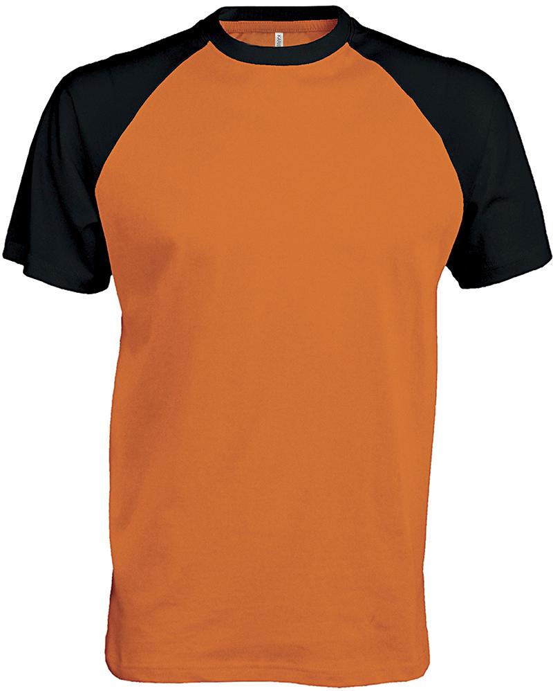 Orange Raglan Shirt Design