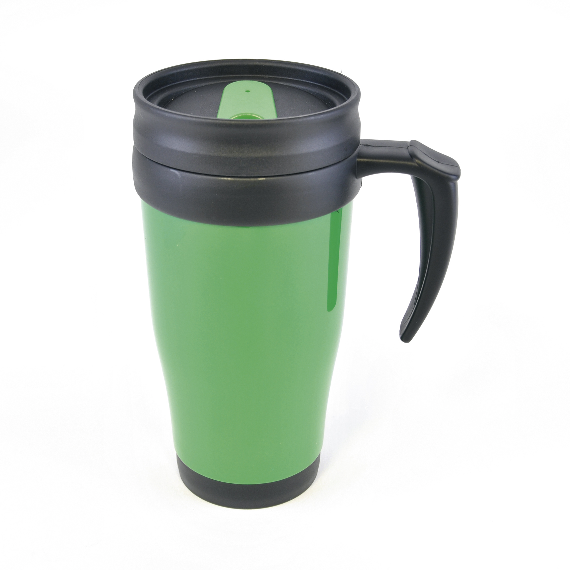 thermal plastic coffee tea hot cold drink travel mug cup insulated 400ml colours ebay. Black Bedroom Furniture Sets. Home Design Ideas