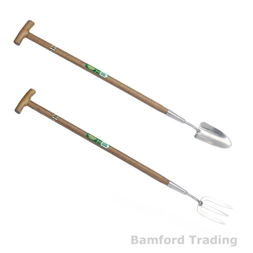 New Draper Long Handled Handle Weeding Fork And Trowel