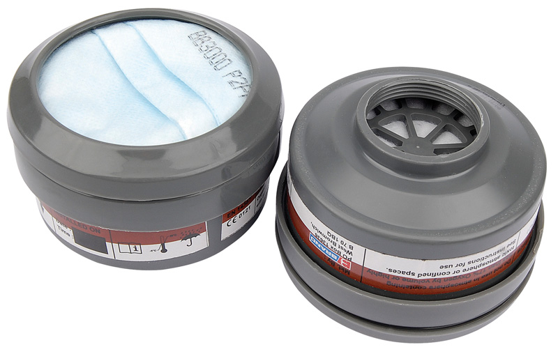 Draper 13501 2 Spare A1P2 Filters for Combined Vapour and Dust Respirator 13500