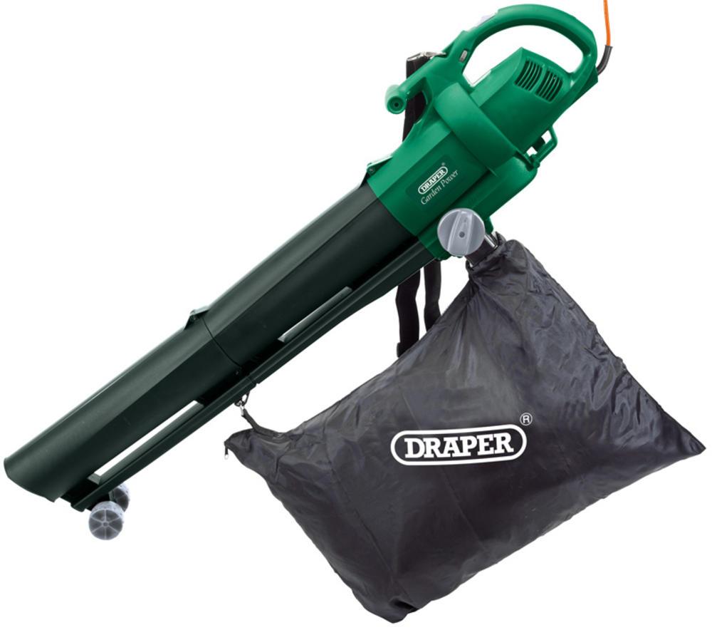 Draper 54477 bv2500 2500w garden vacuum blower mulcher for Garden vacuum