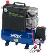 Draper 32815 DA5/100 5L 12V 0.4kW Portable Oil Free Air Compressor