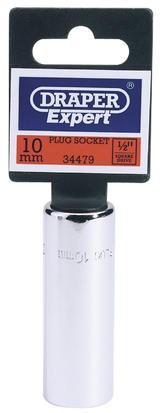 "Draper 34479 HT-PLUG Expert 10mm Plug 1/2"" Sq. Dr. Spark Plug Socket"