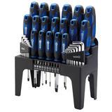 Draper 78616 864/44/B 44 Piece Screwdriver, Hex Key and Bit Set (Blue)