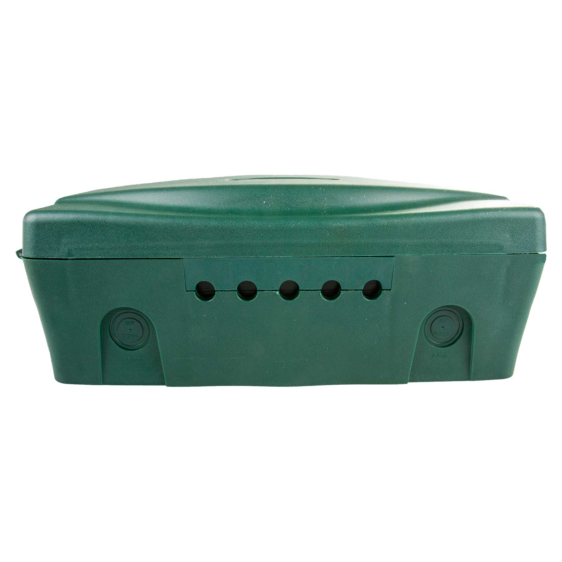 Masterplug green weatherproof box for outdoor electrical power connections masterplug green for Exterior electrical outlet box