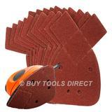 Silverline 536093 Hook & Loop Detail Sander Sheets 140mm 60 Grit