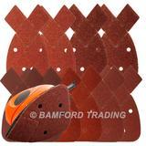 50 Silverline 597635 Hook & Loop Detail Sander Sheets 140mm Assorted Grit