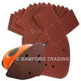 50 Silverline 597635 Hook & Loop Detail Sander Sheets 140mm 240 Grit