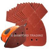 50 Silverline 536093 Hook & Loop Detail Sander Sheets 140mm 80 Grit