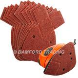 50 Silverline 826292 Hook & Loop Detail Sander Sheets 140mm 40 Grit
