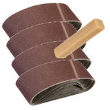 Silverline 308931 5Pk Sanding Belts 75mm x 533mm 60G with Cleaner