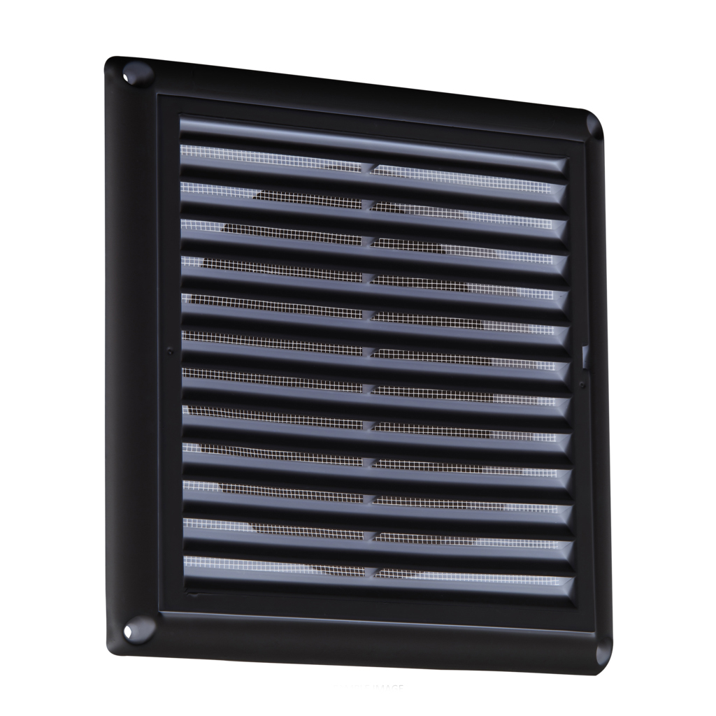 Knightsbridge 150mm 6 extractor fan grille vent with fly - Grille de ventilation fenetre pvc ...