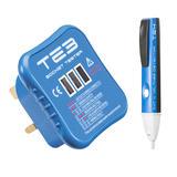 Knightsbridge TE3 Socket Tester & TE4 Non-Contact Voltage Detector Kit