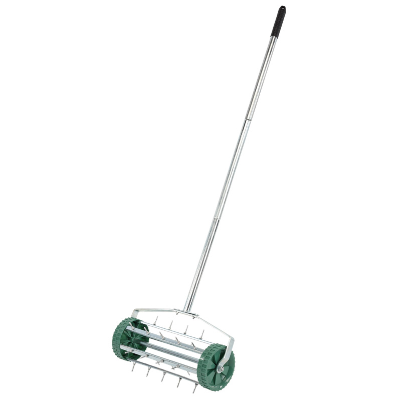 Draper Lawn Aerator With Rolling Spiked Drum Soil Conditioning