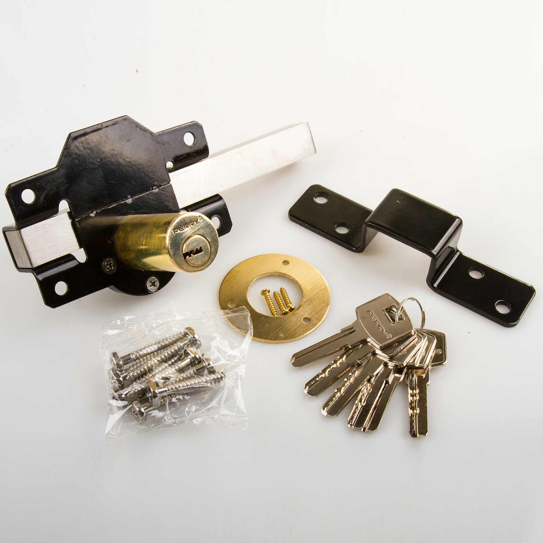 Garden gate 50mm rim lock for door driveway side shed for Driveway gate lock