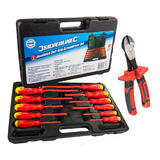 Silverline Electricians Insulated Screwdriver Set with Free VDE Side Cutters