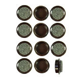 Pack of 12 x 44mm Small Brown Felt Backed Caster Cups