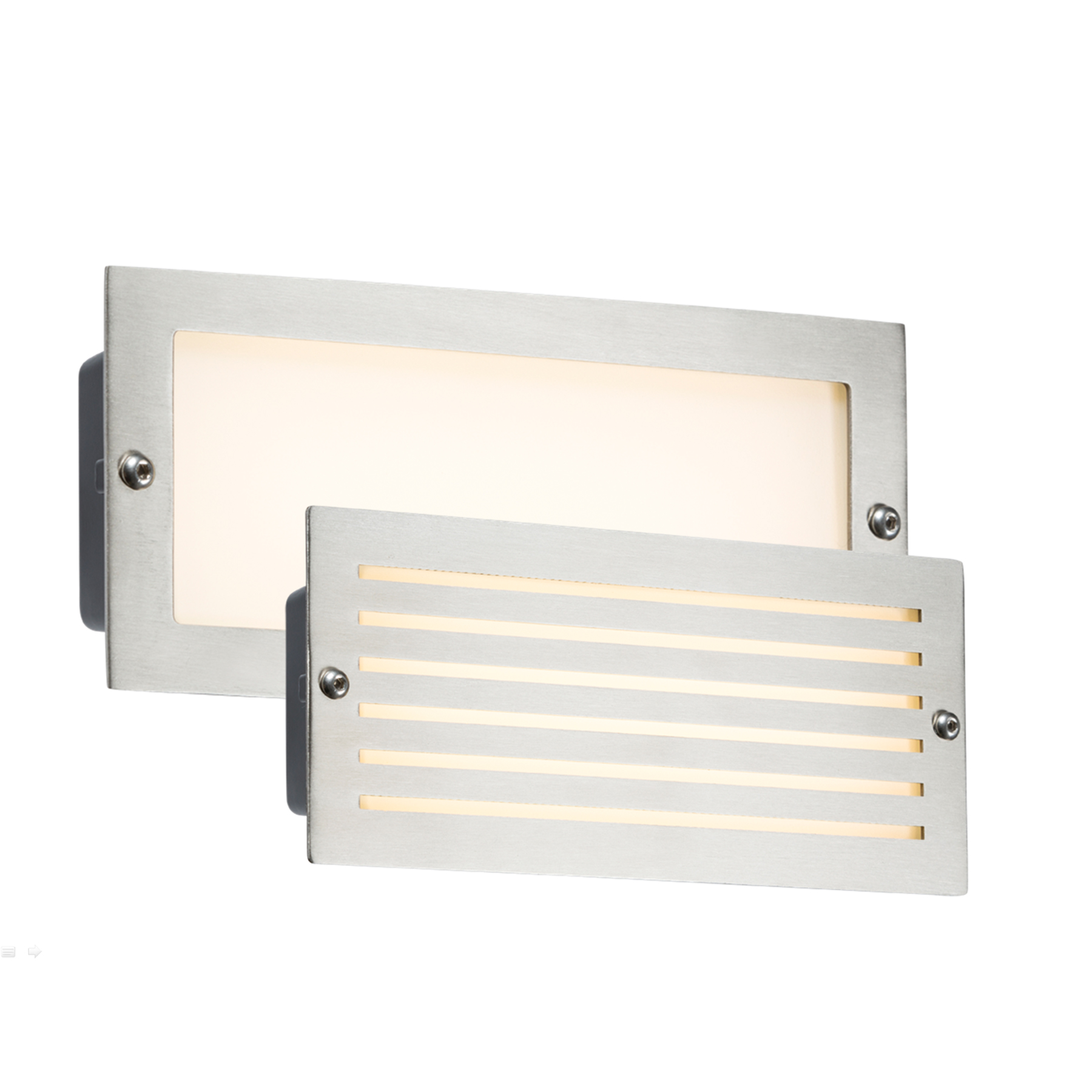 Knightsbridge LED Bricklight Outdoor Brick Light White Brushed Steel Low Ener