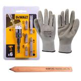 Dewalt Extreme Impact Ready Rapid Load Screwdriving Set 6 Pc & Work Gloves