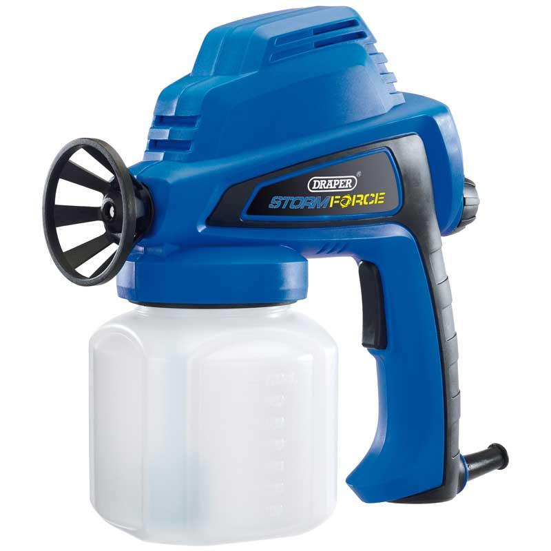 draper storm force electric airless spray gun power sprayer for liquids 80w 230v ebay. Black Bedroom Furniture Sets. Home Design Ideas