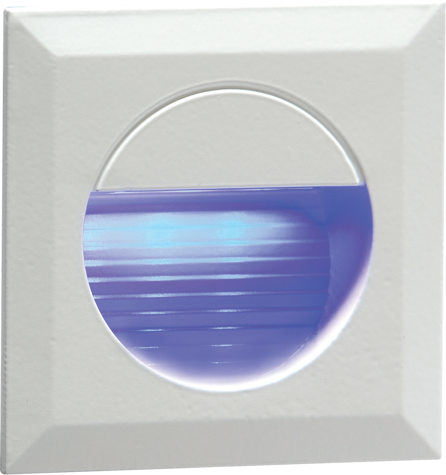 Stair Wall Light Blue LED Knightsbridge NH019B 230V Recessed IP54 Square Ind