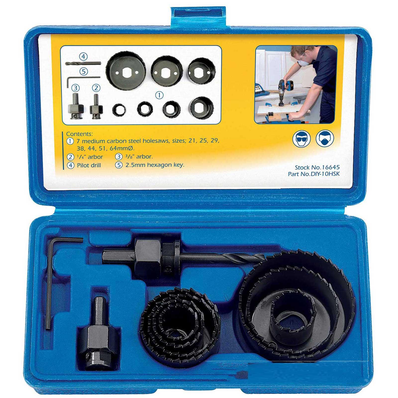 hole saw bit sizes. draper holesaw kit hole drill cutter set plumber kitchen fitter for cutting wood saw bit sizes