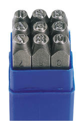 Draper 37337 NS 0 - 9 Number Stamp Set - Number Height 3/16